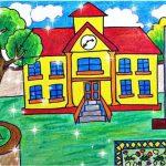 Tranh vẽ về ngôi trường mơ ước của em – Hướng dẫn cách vẽ